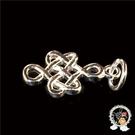 吉祥結925銀+黑繩項鍊【 十方佛教文物】