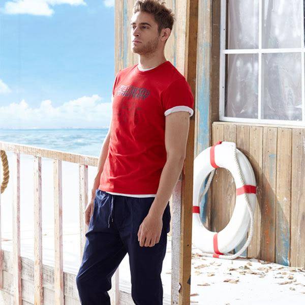 【JEEP】吸濕排汗創意T恤-紅色