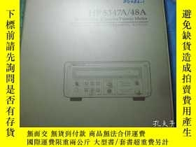 二手書博民逛書店HP罕見5347A 48A Microwave Counter