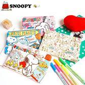 史努比 SNOOPY 雙層收納包 化妝包 旅行包 萬用包 外出包 手提包 筆袋 iaeShop