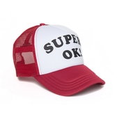 Deus Ex Machina Super Ok Trucker 棒球帽-男/女(紅/白)