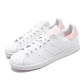 adidas 休閒鞋 Stan Smith W 白 粉紅 女鞋 運動鞋 【PUMP306】 EE5865