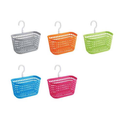 Qmishop 掛架 置物架 菜瓜布架 塑膠籃 S掛勾 收納掛籃 塑料收納瀝水籃【J1305】