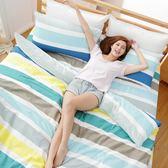 [SN]#U085#細磨毛天絲絨5x6.2尺標準雙人床包被套四件組-台灣製