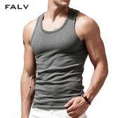 男士背心 運動背心男士純棉青年透氣無痕打底跨欄款加絨加厚工字男生汗衫 二度3C