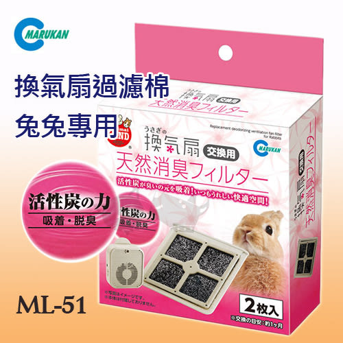 PetLand寵物樂園《日本Marukan》兔兔專用風扇 - 過濾棉 ML-51 / 小動物寵兔適用