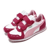 Puma 慢跑鞋 Cabana Racer SL V PS 白 粉紅 童鞋 中童鞋 魔鬼氈 【ACS】 36073281