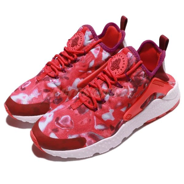 【五折特賣】Nike 武士鞋 Wmns Air Huarache Run Ultra Print 紅 白 渲染樣式 運動鞋 女鞋【PUMP306】 844880-600