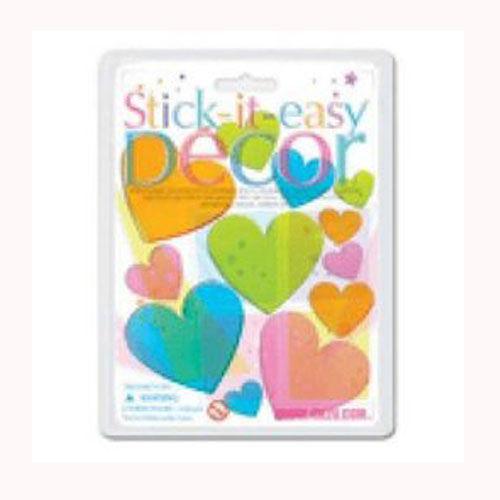 【4M】00411 美勞創意-玻璃貼片系列 (彩色愛心) Stick-It-Easy Décor-Heart