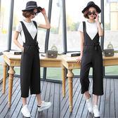 【韓國KW】(現貨在台) 簡約時尚短袖背帶褲套裝