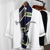 絲巾女士春秋百搭長款方巾韓國領結緞面小絲巾雙面領巾紗巾冬圍巾 店慶降價