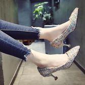 女鞋2018春季新款百搭時尚高跟鞋