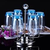 創意時尚杯架子廚房置物架瀝水杯架玻璃杯架水杯收納掛架可旋轉【限時八五折】