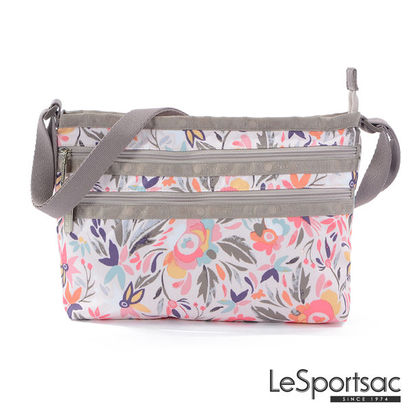 LeSportsac - Standard橫式三層拉鍊斜背包(南島風情) 3352P E265