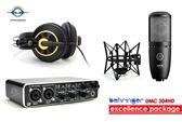 【音響世界】BEHRINGER UMC204HD USB2.0專業錄音套組含K240S耳機+P220麥克風
