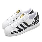 adidas 休閒鞋 Superstar W 白 黑 男鞋 金標 鞋跟LOGO 運動鞋 貝殼頭 【ACS】 FX5558