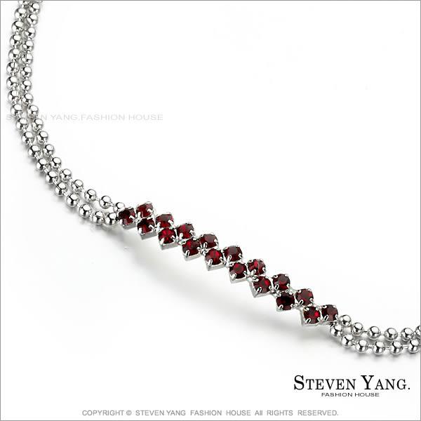 手鍊STEVEN YANG正白K飾「 粉彩躍然鋯石 簡約甜美