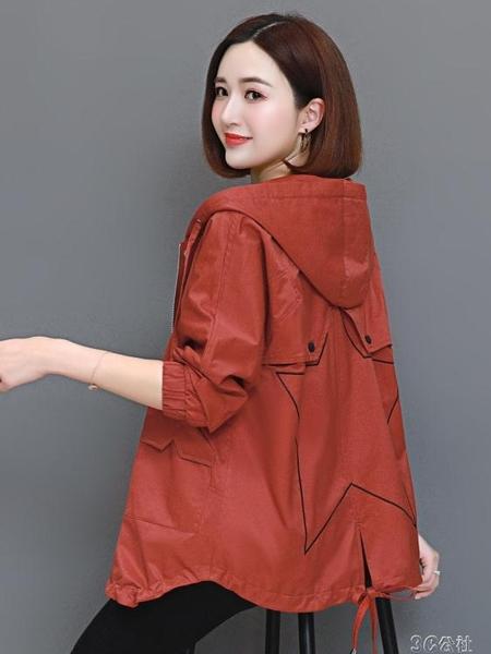 風衣 短款風衣女新款初秋季韓版寬鬆中年媽媽小個子外套女春秋  3C公社