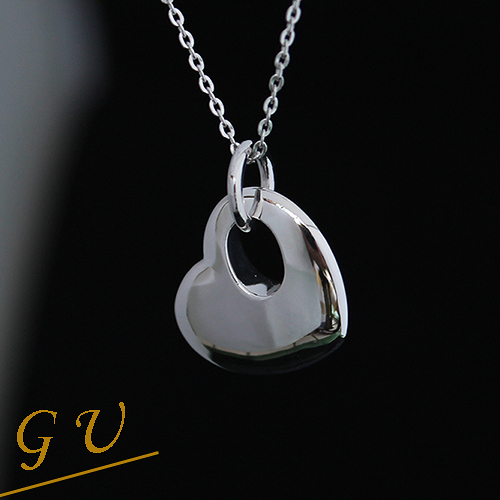 【GU】B04 女友生日禮物925純銀墜子 GresUnic Asivers 愛心吊墜 送銀項鍊