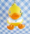 【震撼精品百貨】B.Duck_黃色小鴨~絨毛鑰匙圈-男孩造型