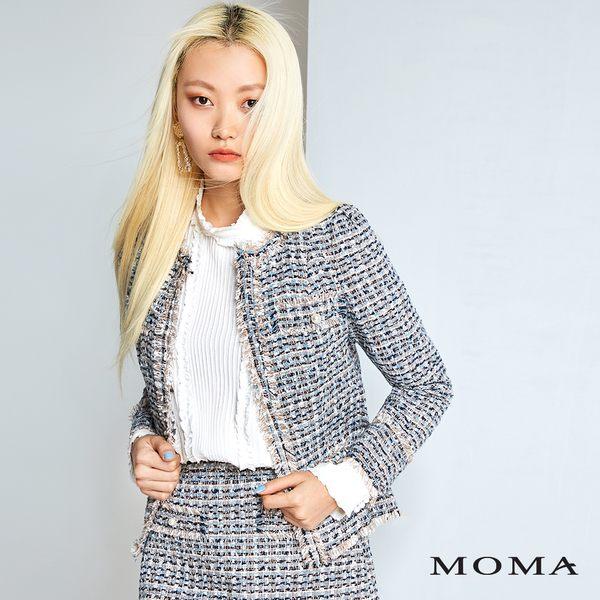 MOMA 毛呢格紋外套