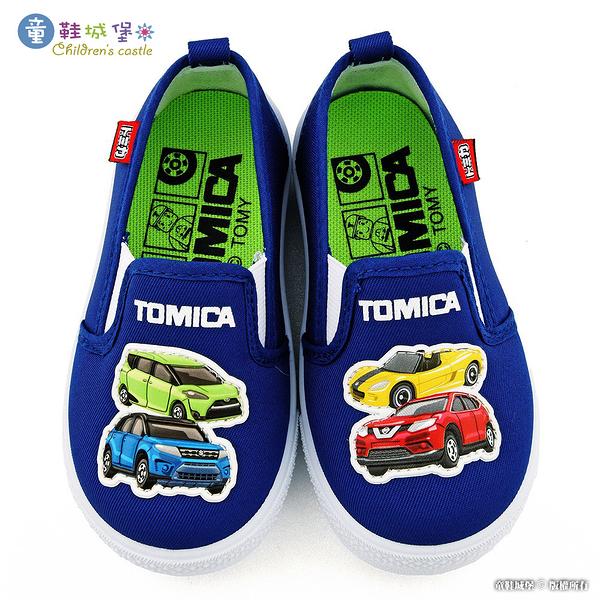 童鞋城堡-小車車室內外休閒鞋 TOMICA多美車 TM7727 藍