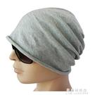 男士帽子純棉睡帽男光頭秋天頭巾透氣套頭包頭帽夏季薄款睡覺單層 果果新品