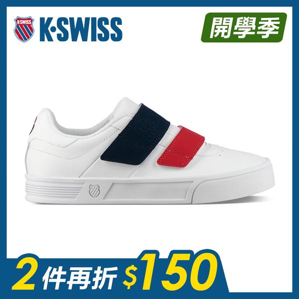 K-SWISS Court Lite Velcro時尚運動鞋-女-白/藍/紅