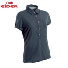 [EiDER] 女排汗透氣短袖POLO衫 - 夜影藍 (EIT2651-5606)