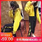 運動兩件套裝女裝秋冬新款時尚休閒bf風女神蹦迪酷潮衛衣學生