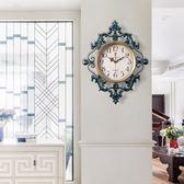 美式復古鐘表掛鐘客廳時鐘歐式家用掛表現代簡約臥室靜音石英鐘 艾尚旗艦店