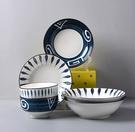 碗 碗碟套裝 4人家用簡約創意盤子日式釉下彩碗盤米飯碗面碗陶瓷餐具【快速出貨八折搶購】