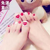 彩繪美甲貼紙可穿戴式美甲沙灘腳趾甲可拆卸腳指甲片成品隨意可摘可戴
