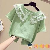 女童T恤短袖夏裝童裝半袖韓版兒童上衣【淘嘟嘟】