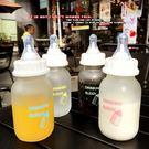 韓國可愛迷你學生奶嘴奶瓶吸管玻璃杯創意男...