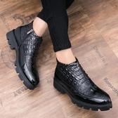馬丁靴黑色內增高男鞋10cm發型師皮鞋男增高鞋8cm高幫商務休閒鞋