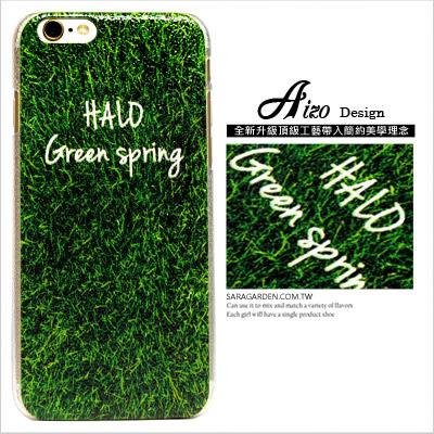 客製 滿版 高清 HALO 鮮嫩 草地 iPhone 6 6S Plus 手機殼 荔枝紋 硬殼 AIZO Design【C0709012】