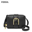 FOSSIL WILEY真皮復古美型側背包-黑色 ZB7885001