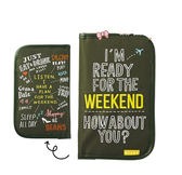 《花花創意会社》外流。人氣插畫師墨綠刺繡旅行手帳包【H4272】