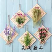 竹編仿真植物墻飾家居墻面裝飾