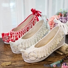 熱賣古風鞋子 漢服鞋子女古風內增高淡雅學生仙氣珍珠秀禾鞋婚鞋民族風女繡花鞋 coco