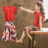 女童夏裝套裝新款兒童裝洋氣韓版兩件套夏季中大童時髦潮短袖 一米陽光