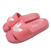 adidas 涼拖鞋 Adilette Lite W 粉紅 白 女鞋 涼鞋 愛迪達 運動拖鞋【ACS】 FX5928