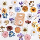 【BlueCat】花自成詩花盒裝 貼紙 手帳貼紙 (46枚入)