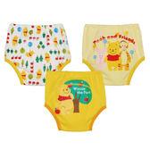 【日本進口】日本 迪士尼 Disney 小熊維尼三層學習褲/尿布褲(3件組)(90-100cm)