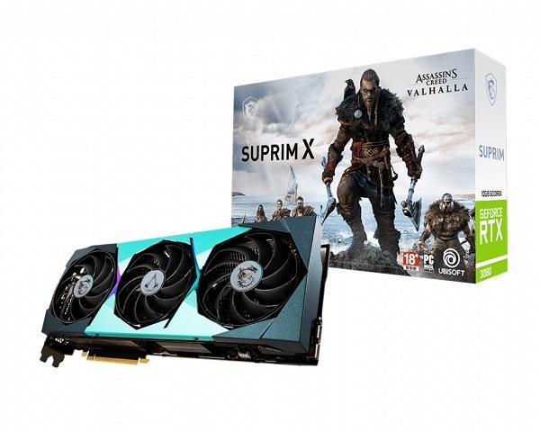 微星 MSI GeForce RTX 3080 10G SUPRIM X 顯示卡(刺客教條聯名版)
