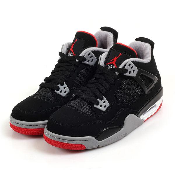 ~[TellCathy]NIKE Air Jordan 4  RETRO 黑紅 四代 女 408452-060