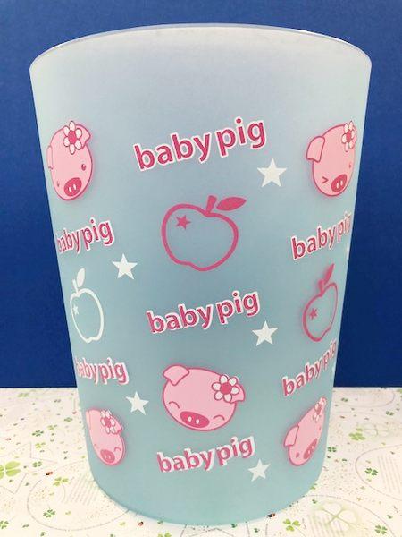 【震撼精品百貨】Hello Kitty 凱蒂貓~塑膠垃圾桶-小豬圖案-L#06244
