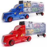 618大促手提大貨柜車運輸車合金仿真小汽車兒童玩具車模型玩具