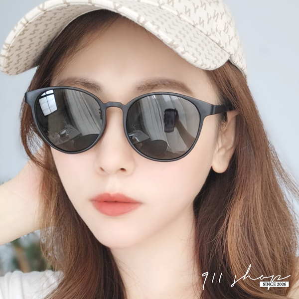 Hoax.MIT台灣製。韓風橢圓膠框偏光太陽眼鏡【f5055】911 SHOP